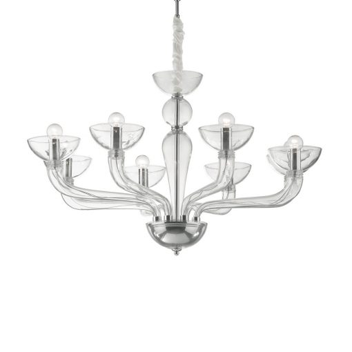 Ideal Lux Csillár CASANOVA SP8 TRASPARENTE 044255