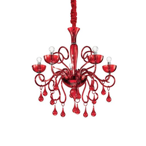 Ideal Lux Csillár LILLY SP5 ROSSO 073453