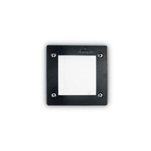 Ideal Lux Kültéri falba süllyesztett lámpa LETI PT1 SQUARE NERO 096582