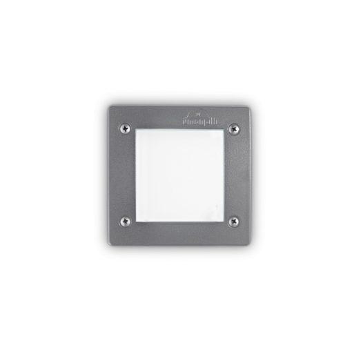 Ideal Lux Kültéri falba süllyesztett lámpa LETI PT1 SQUARE GRIGIO 096599