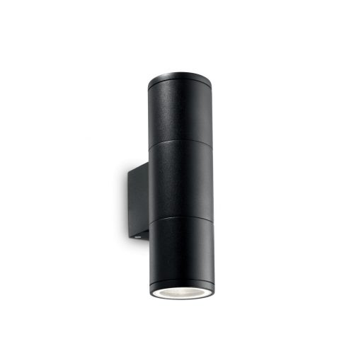 Ideal Lux Kültéri fali lámpa GUN AP2 SMALL NERO 100395