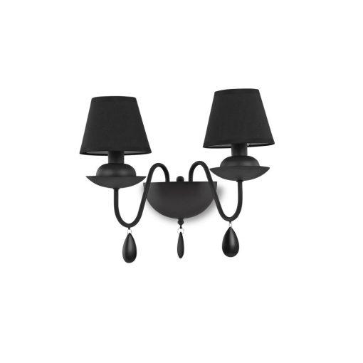 Ideal Lux Fali lámpa BLANCHE AP2 NERO 111889