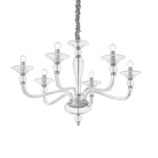 Ideal Lux Csillár DANIELI SP6 TRASPARENTE 159959