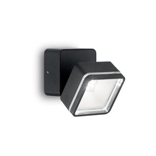 Ideal Lux Kültéri fali lámpa OMEGA AP SQUARE NERO 4000K 165370