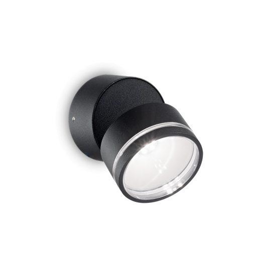 Ideal Lux Kültéri fali lámpa OMEGA AP ROUND NERO 4000K 165387