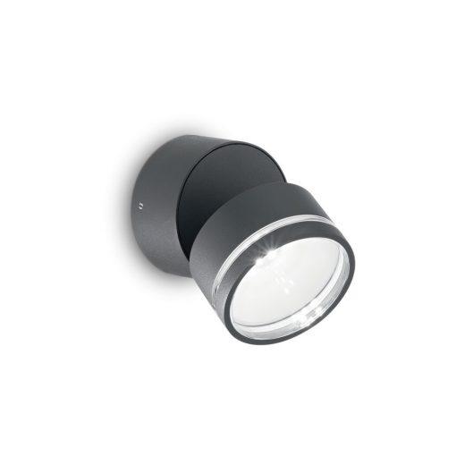 Ideal Lux Kültéri fali lámpa OMEGA AP ROUND ANTRACITE 4000K 172552
