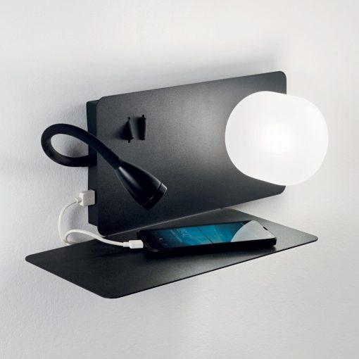 Ideal Lux Fali lámpa BOOK-1 AP2 NERO 174808