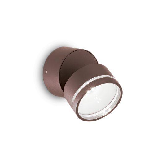 Ideal Lux Kültéri fali lámpa OMEGA AP ROUND COFFEE 4000K 247069